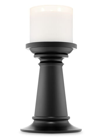 Tall Black Pedestal 3-Wick Candle Holder