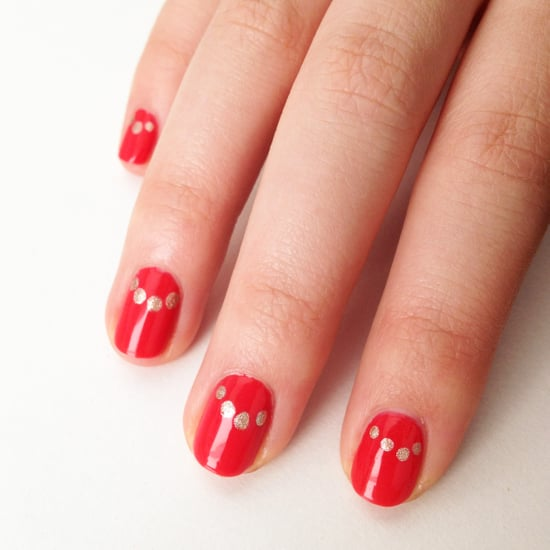 Easy Half-Moon Manicure Idea