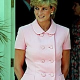 Diana is pictured in Buenos Aires during her official visit to Argentina in November 1995.