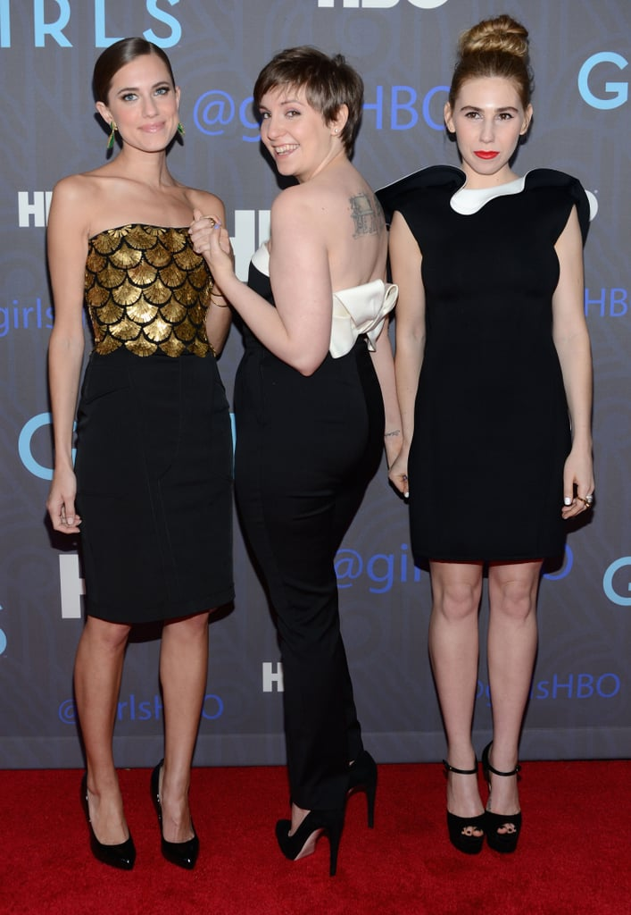 Allison Williams, Lena Dunham, and Zosia Mamet got creative with their poses.