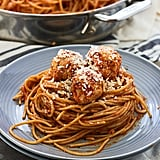 Lightened-Up Spaghetti and Chicken Meatballs
