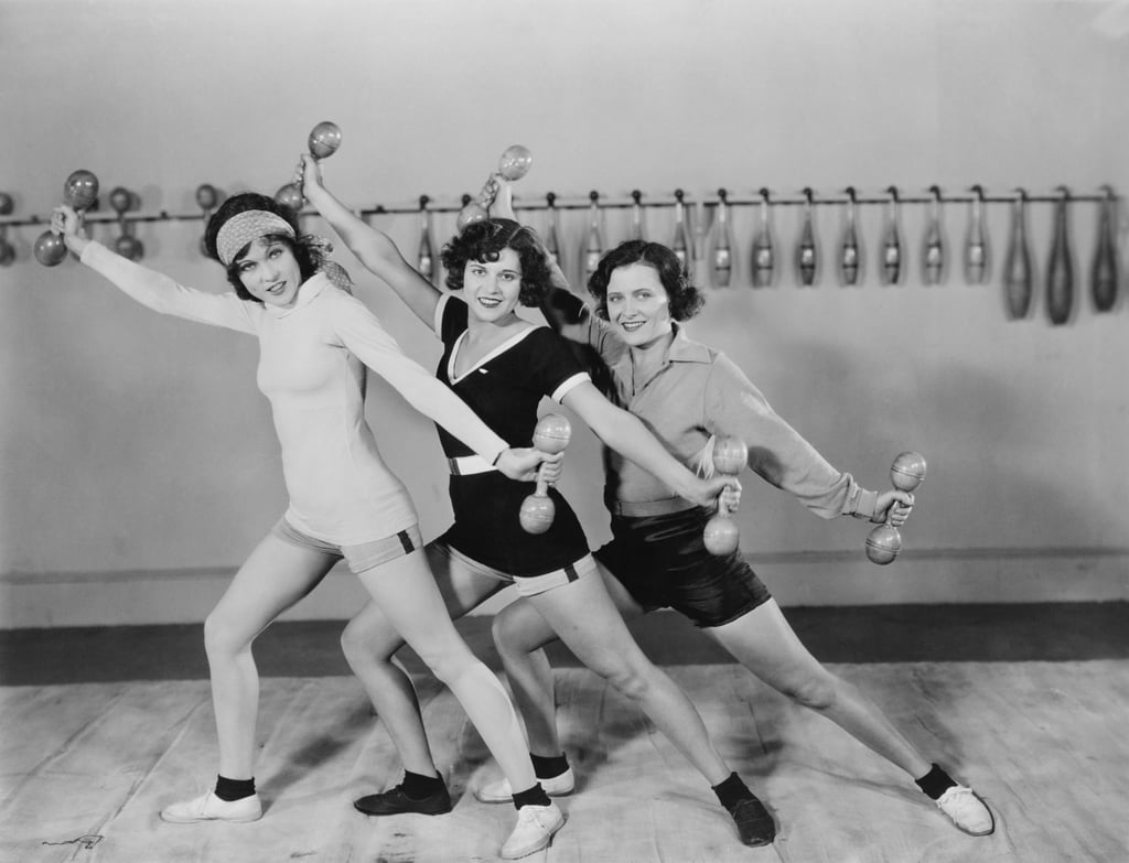 Image result for exercising 1930