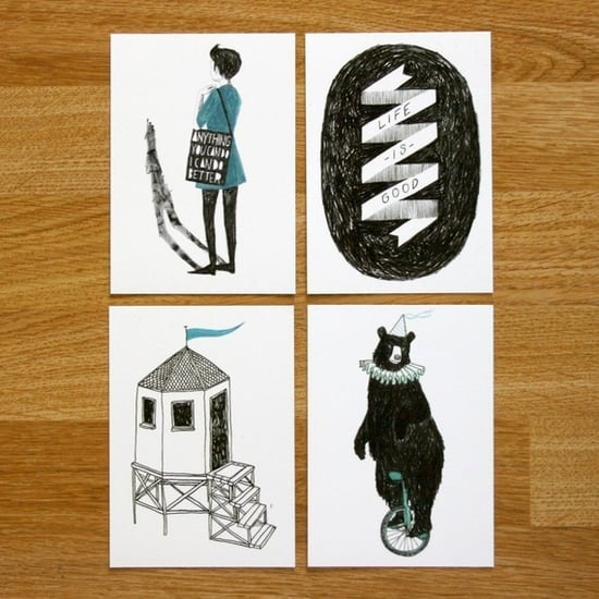 Black and Blue postcard set ($5.50)