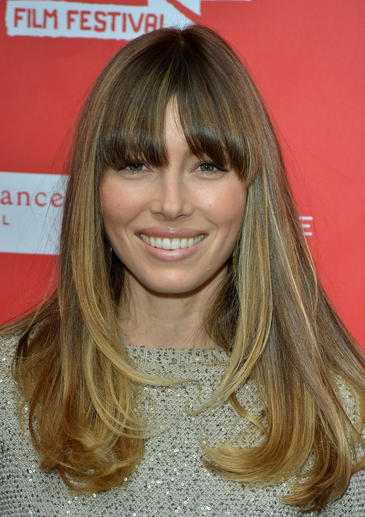 Frosted Fringe | Pictures of Jessica Biel's Hair ...