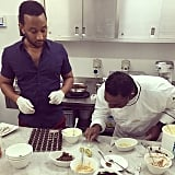 John Legend learned how to make chocolate truffles.