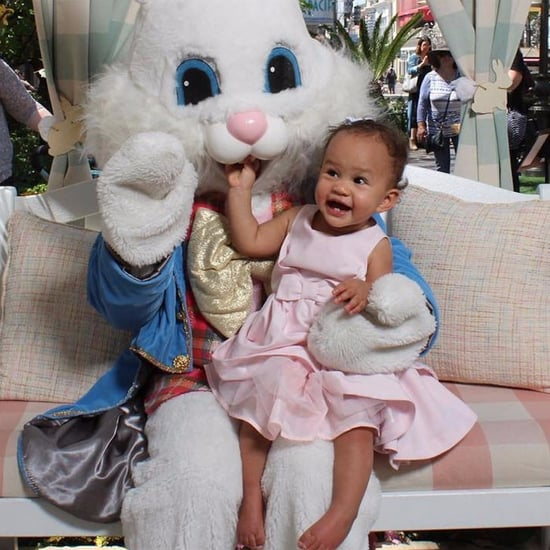 Photo of Baby Luna Meeting the Easter Bunny April 2017