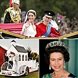 New World Records: Royals and Weddings Prince William and Kate Middleton may have won the Internet when their royal wedding garnered the most live streams for a single event, but William's grandma has them beat on the pop culture front. Queen Elizabeth II has been portrayed on screen and on stage more than any other living monarch. The Guinness Book of World Records does a good job of keeping track of two things that go well together: royals and weddings. Keep reading to find out who is the reigning record holder in categories like longest serving queen, fastest wedding chapel, and tallest married couple.