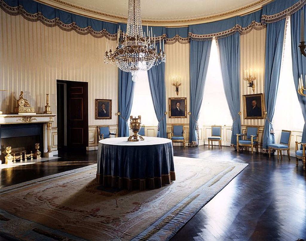 jackie kennedy white house restoration popsugar home. Black Bedroom Furniture Sets. Home Design Ideas