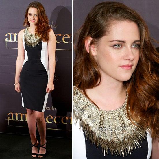 Kristen Stewart In Fitted Julien Macdonald Mini-Dress