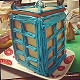 Whoever baked this TARDIS gingerbread house