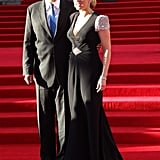 Kate Winslet and James Cameron at the Titanic 3D world premiere in London.