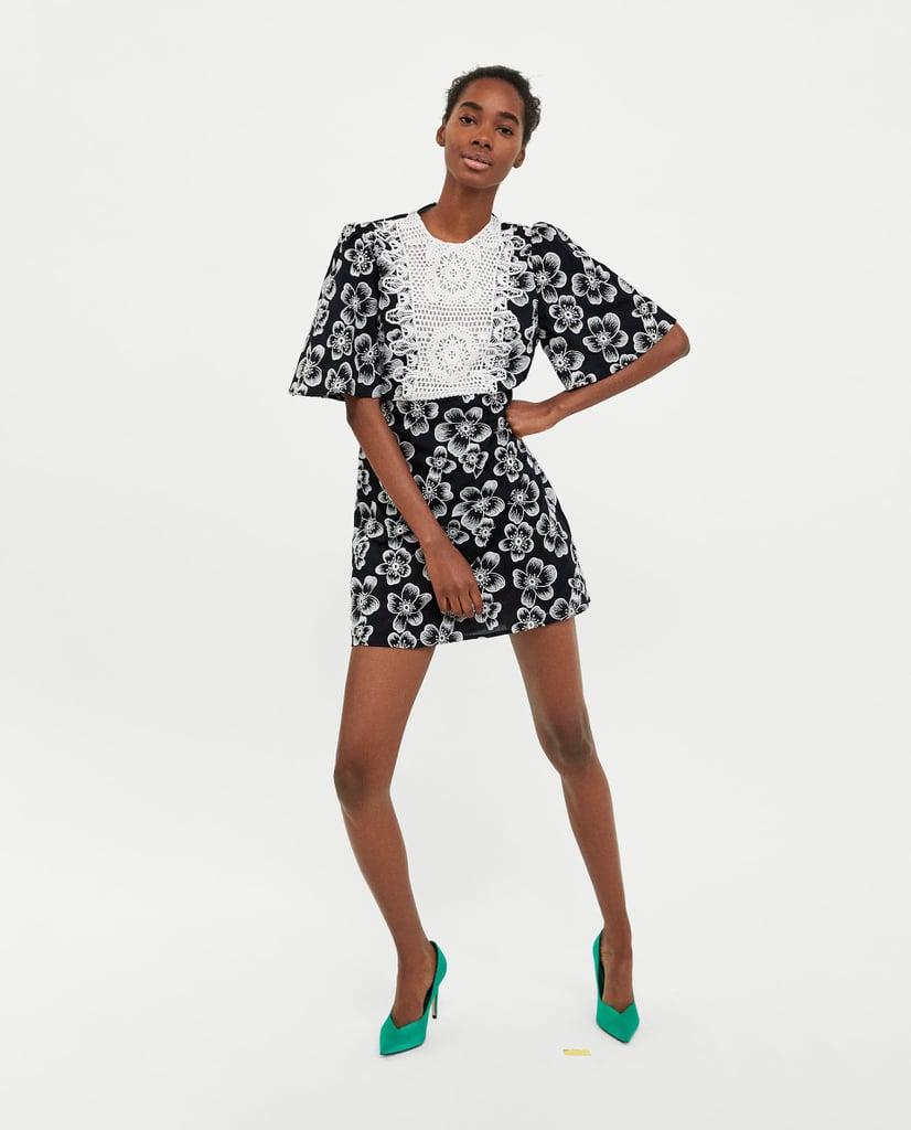 c155e877 Zara Combined Bib Front Dress | Kate Middleton Black and White ...