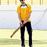 He warmed up for a cricket match in the Caribbean in November 2016.