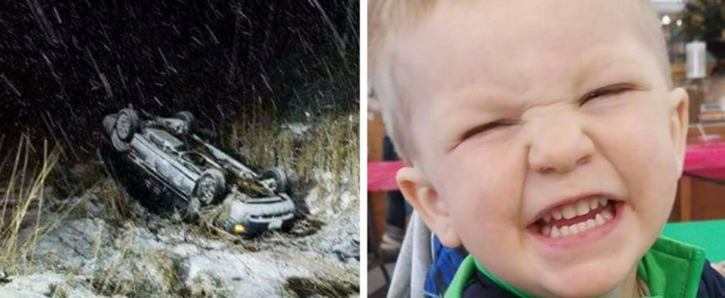 After Her Car Flipped Over, This Mom Is Thankful For the Car Seat That Saved Her Son