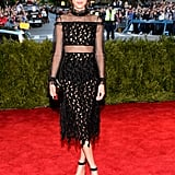 "The theme of the Spring 2013 Costume Institute Gala was ""Punk: Chaos to Couture."" Alexa definitely fit right in."