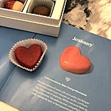 Jealousy Is Symbolized by a White Chocolate Heart Filled With Bitter Orange Marmalade