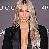 Kim Kardashian's Ash Blonde Hair in 2017