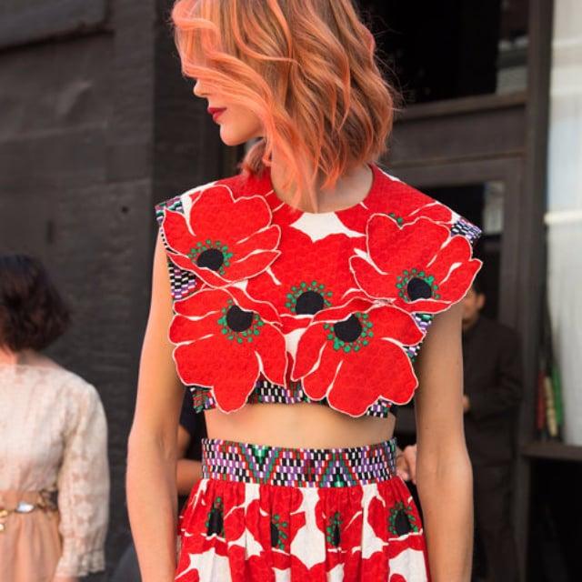 Beauty Street Style New York Fashion Week Spring 2016 Popsugar Beauty