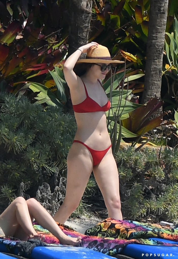 In March 2017, Dakota Johnson flaunted her fit physique in a red bikini while hanging out with friends in Miami.