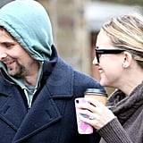 Kate Hudson and Matthew Bellamy laughed in London.
