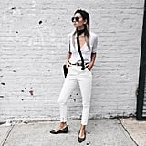 White Jeans and a White Button-Down