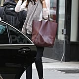 Miranda Kerr getting picked up in NYC.