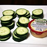 Hummus and Cucumber Slices