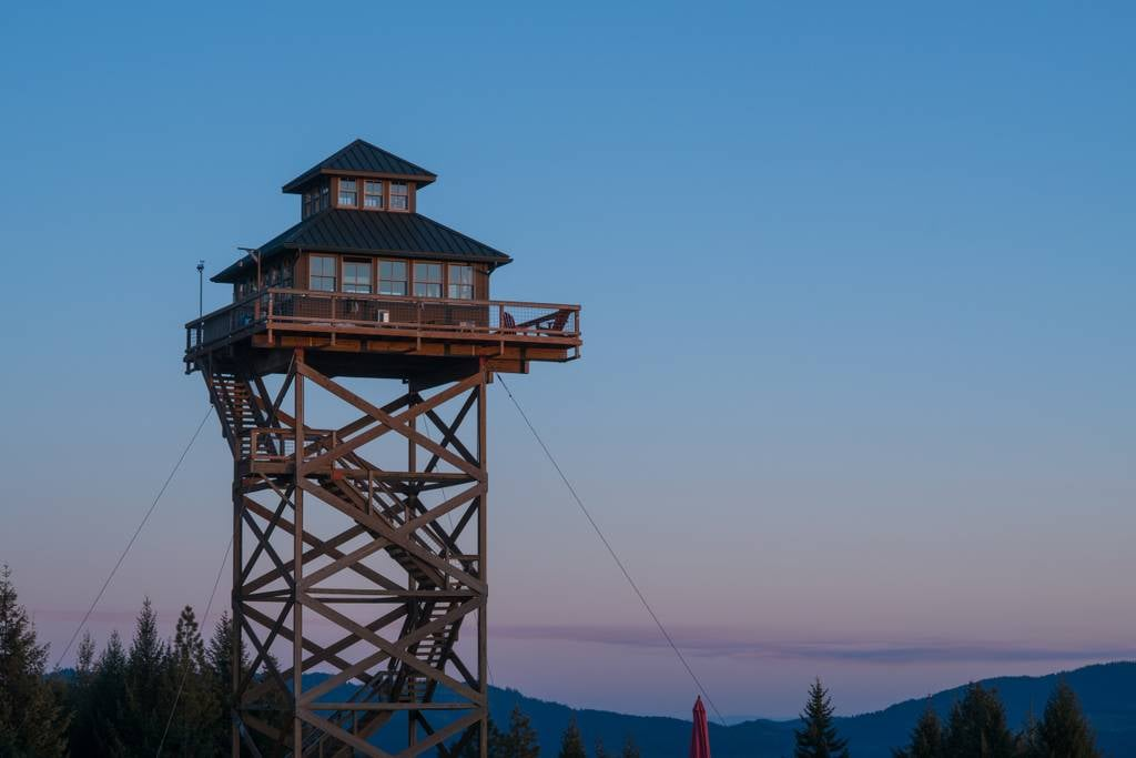 "If you value your peace and quiet — and you aren't afraid of heights — then we just found your next travel destination. The Summit Prairie Airbnb in Tiller, OR, is a home that's raised 40 feet off the ground, overlooking the beautiful land surrounding it. According to the site, the ""lookout tower"" is modeled after fire lookout towers built by the US Forest Service in the early 1900s. It comes with all the essential amenities like running water, a stove, a heater, and electricity — but with breathtaking views on top of it all. While visiting, you can take day trips to nearby sites like Crater Lake, river rafting, South Umpqua Falls, and more.  The tower is on 160 acres of private land, so if you're looking to get off the grid, this is definitely the place to go. The cozy home looks like an amazing getaway — and it's only $175 per night. Guests must agree that it's the place to be, because the Airbnb is booked through 2017. You can get on the cancellation list in case anyone backs out, and make sure to jump on making a reservation for 2018 once it opens. Take a look at the absolutely stunning photos ahead and start dreaming of a few days spent relaxing and rejuvenating your body and mind here.      Related:                                                                                                           This Dreamy Tree House in Hawaii Has a Hanging Bed and a Real Trapdoor"