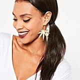 Missguided Leaf Statement Earrings