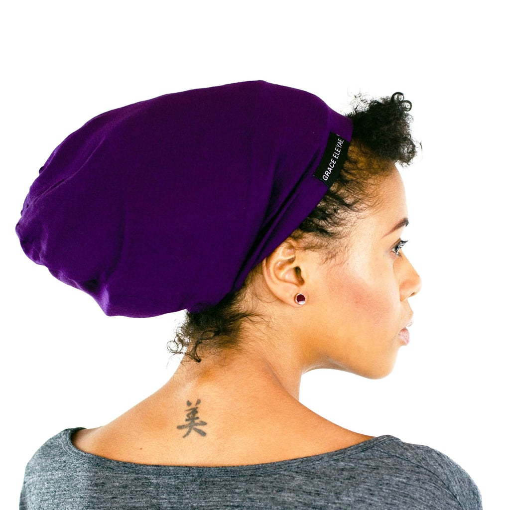 Grace Eleyae Purple Slap Satin Lined Cap