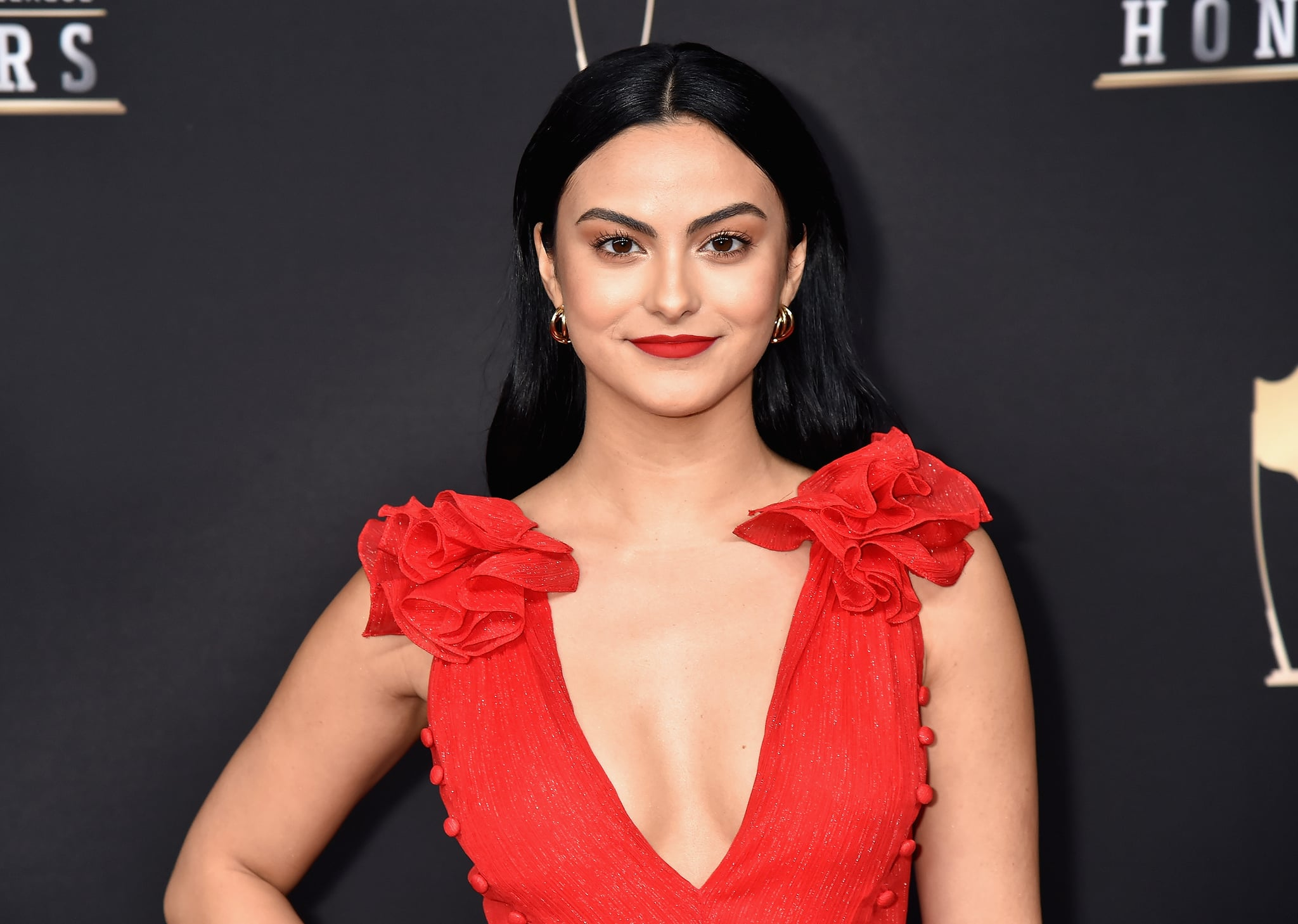 ATLANTA, GA - FEBRUARY 02:  Camila Mendes attends the 8th Annual NFL Honours at The Fox Theatre on February 2, 2019 in Atlanta, Georgia.  (Photo by Jeff Kravitz/FilmMagic)