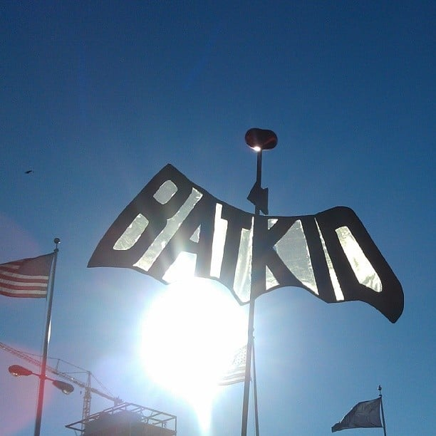 """Batkid"" signs popped up throughout San Francisco. Source: Instagram user shastablastawraps"