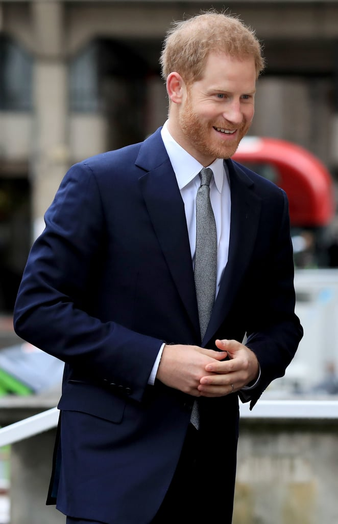 Prince Harry followed in his wife Meghan Markle's footsteps on March 14, as he paid a visit to King's College in London. The Duchess of Sussex put in an appearance at the University the previous week, when she appeared on a speaking panel as part of International Women's Day. Harry's visit was just as important, as he was there to join a discussion at the Veterans' Mental Health Conference.      Related:                                                                                                           We Didn't Think Prince Harry Could Get Sexier, but Bless 2019 For Proving Us Wrong               As a former serving officer himself, Harry has always been passionate about the welfare of veterans and their families, and he has also spoken about mental health on a number of occasions, as well as spearheading the Heads Together campaign alongside the Duke and Duchess of Cambridge. Today's conference has the aim of sharing ideas and findings in the aim of better supporting veterans' mental health in the future and allowed the Prince to continue this important work. Keep reading to see all the photos from this important day.