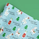 Funny Llama Christmas Wrapping Paper