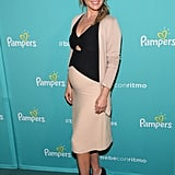 Ali Larter put her baby bump on display during a Pampers event in LA on Wednesday.