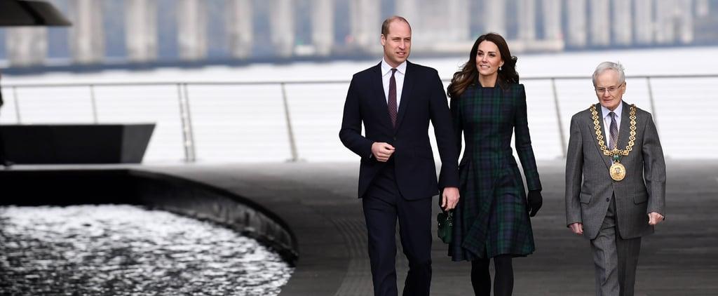 Kate Middleton McQueen Tartan Coat Dundee Visit January 2019