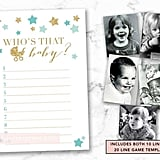 Guess Who's That Baby Printable Baby Shower Game