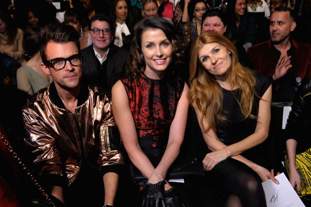 Brad Goreski, Bridget Moynahan, and Connie Britton had prime seats for Monique Lhuillier's Saturday show.