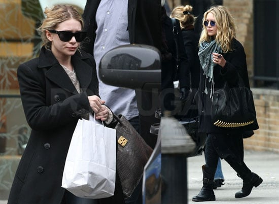 Photos of Mary-Kate Olsen and Ashley Olsen Out in NYC