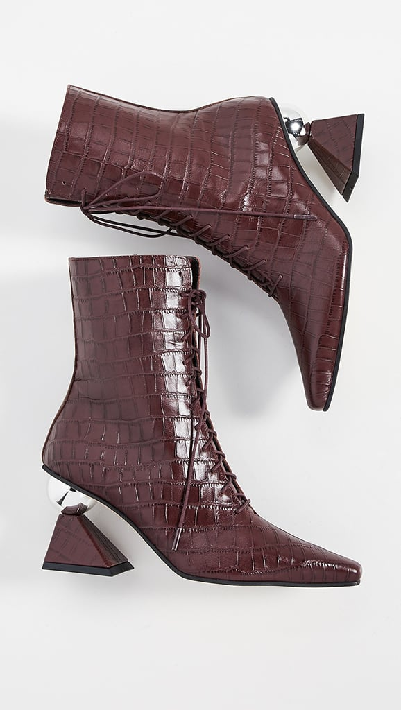 Selena Gomez's Yuul Yie Boots in Burgundy Croc