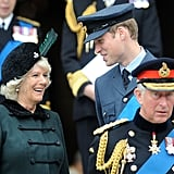 William had Camilla grinning from ear to ear at a commemoration service at London's St. Paul's Cathedral in October 2009.