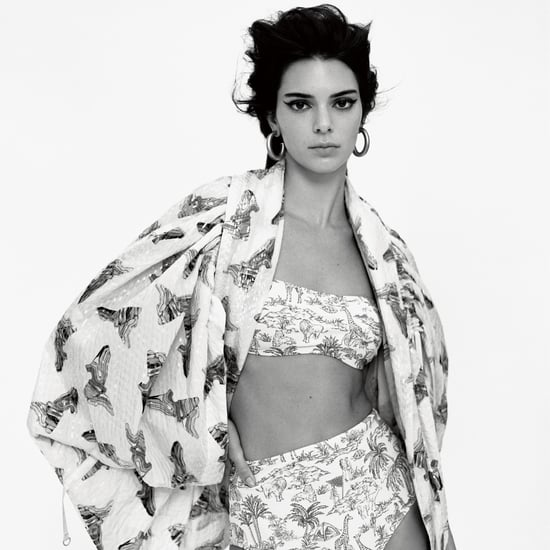 Kendall Jenner Animal Print Bikini in Vogue