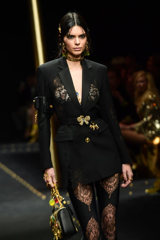 Walking in the Versace Show in a NSFW Look