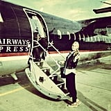 Jess Hart boarded a not-so-big jet plane. Source: Instagram user 1jessicahart