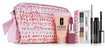 She gets to test out these minis and have a fab new makeup bag from Cos Bar.  Clinique Spring Into Color Set ($40)