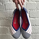 Rothy's Pink Mixed Stripe Flat