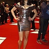 Paula Patton wore head-to-toe silver.