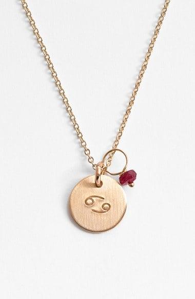 Stamped Zodiac Necklace ($70)