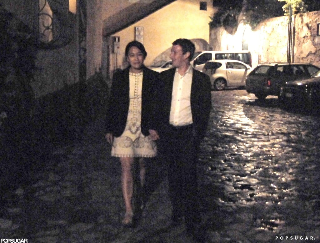 Mark Zuckerberg and Priscilla Chan marked the holiday in Italy, where they spent their honeymoon on the Amalfi Coast.