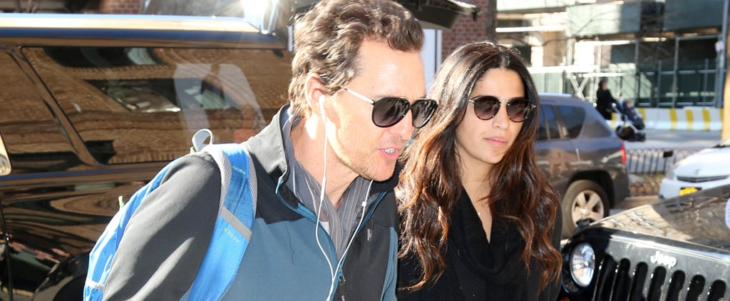 Matthew McConaughey Adorably Leads the Way For Camila Alves During Their NYC Stroll